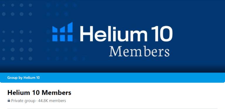Helium 10 Facebook Group