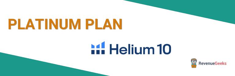 Helium 10 Platinum Plan
