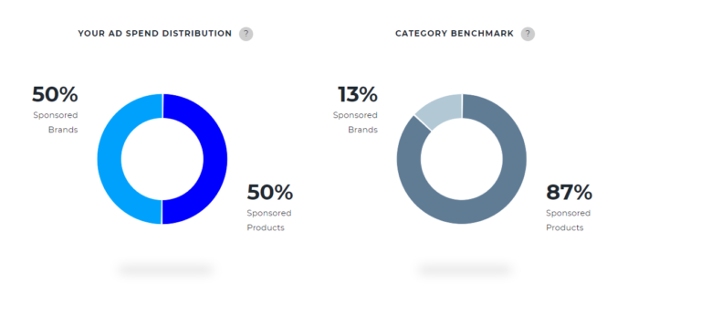 Ad spend distribution on a demo account for the Sports and Outdoors
