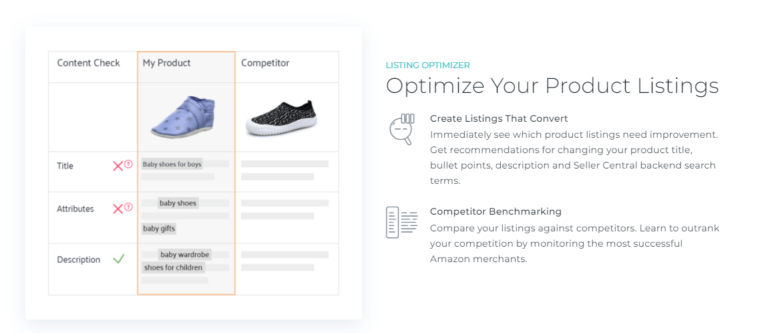 You can optimize your prudct listings with Sellics too.