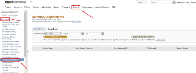 Amazon Inventory Adjustments